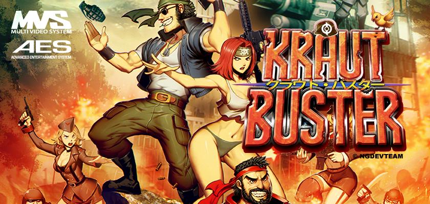Kraut Buster: nuevo lanzamiento para Neo Geo en 2015, spin off del gran Metal Slug por NG:Dev.Team Header